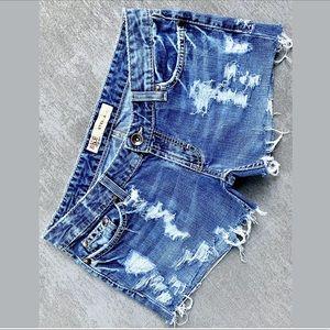 "BKE ""Stella"" Cut-Off Blown-out Blue Jean Shorts"